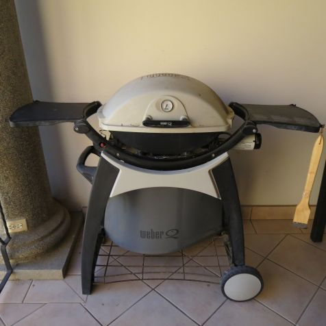 Weber Grill on outdoor terrace. Grill that fish you caught!