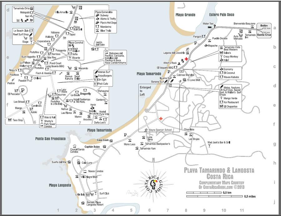 Tamarindo-Langosta-Map-Large